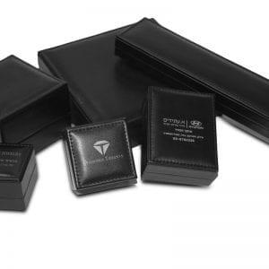 קופסאות דמוי עור עם תפירה באיכות גבוה